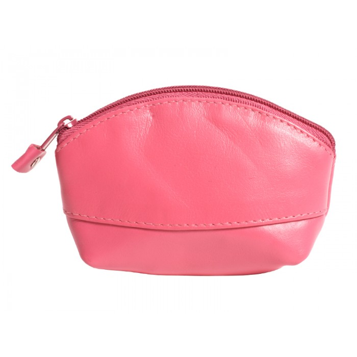LEATHER COIN PURSE PINK 0.50