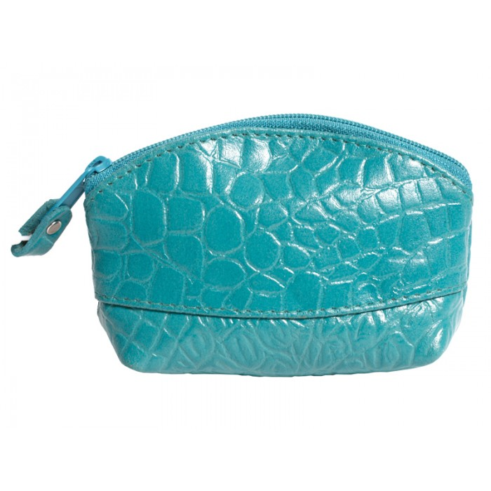 LEATHER COIN PURSE TURQUOISE 0.50