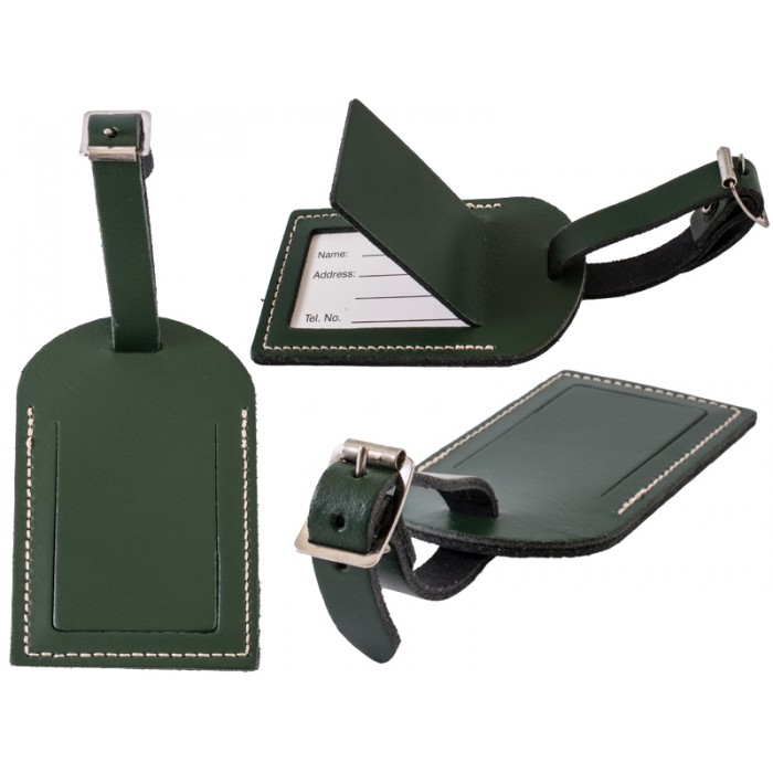 Leather Luggage Tag D.Green