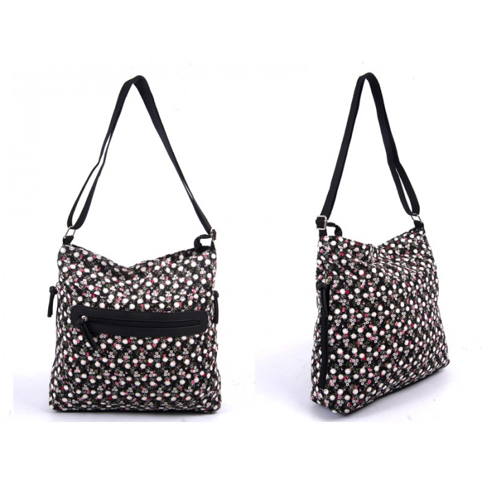 LJ-009 BLACK LILLY & JANE CANVAS BAG
