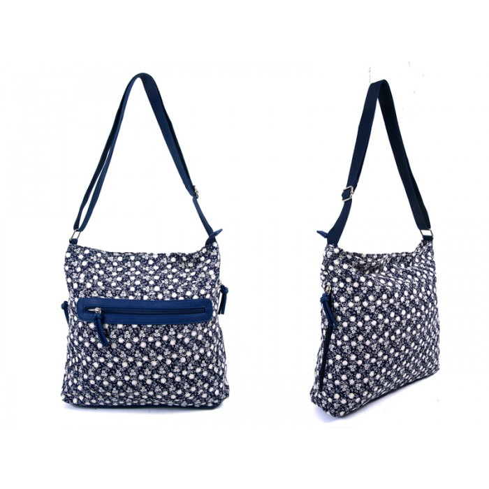 LJ-009 NAVY LILLY & JANE CANVAS BAG