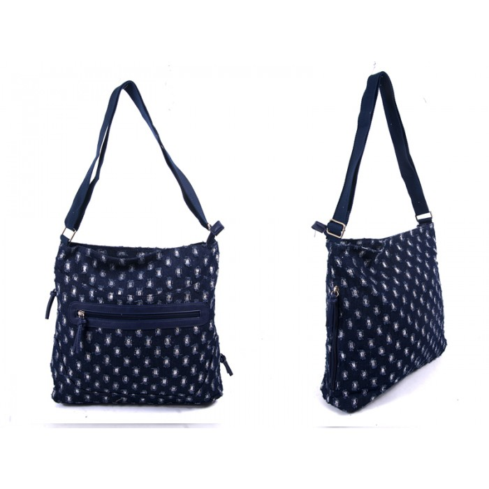 LJ-013 RIP JEANS LILLY & JANE CANVAS BAG