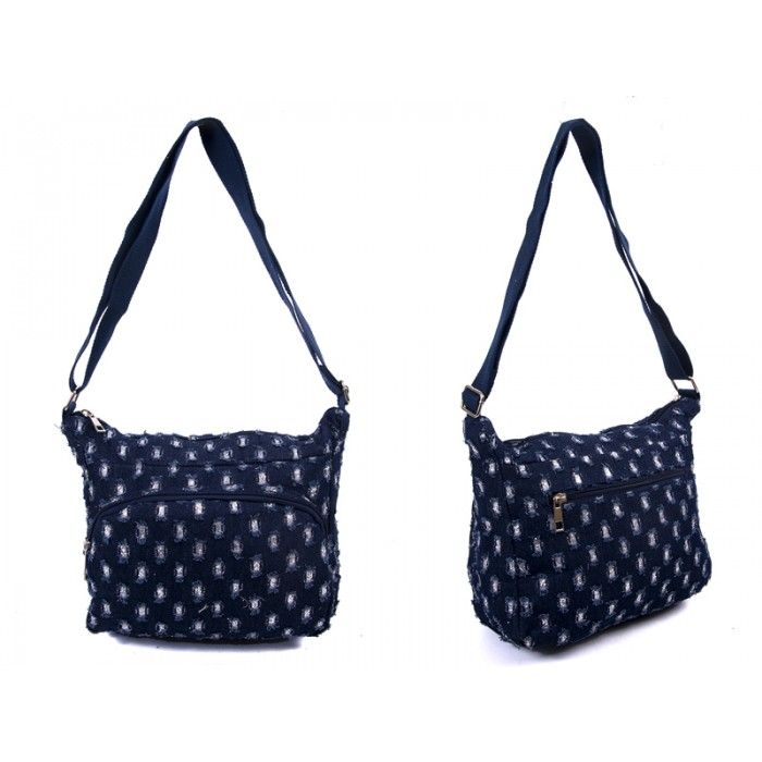 LJ-014 RIP JEANS LILLY & JANE CANVAS BAG