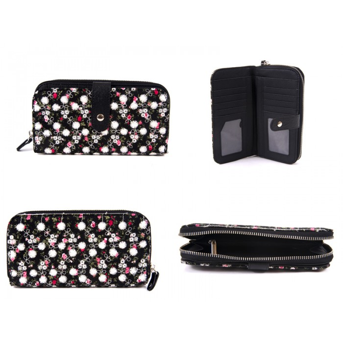 LJP-102 BLACK LILLY & JANE PURSE