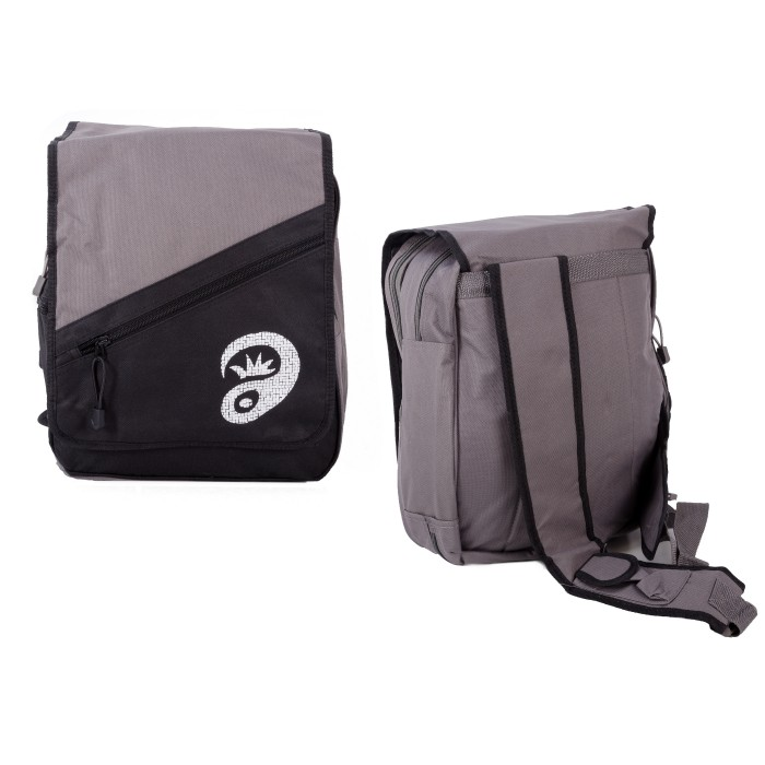 ONE STRAPPED BLACK/GREY RUCKSACK WITH 5 COMPARTMENTS