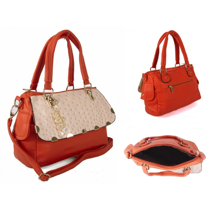 SUS1 ORANGE BUBBLE FLAP PU BAG