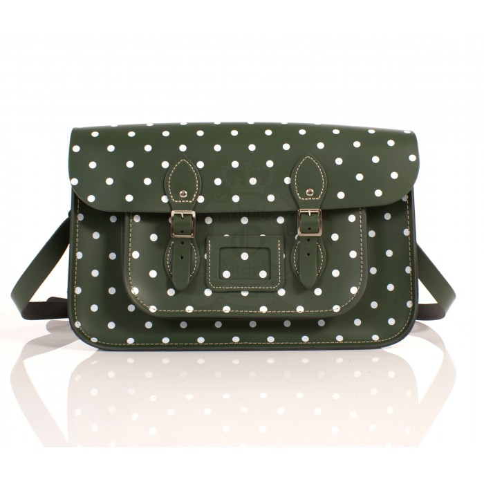 RL15 DARK GREEN POLKA DOT ENGLISH NEW 5