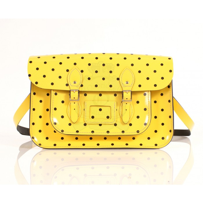 RL15 PATENT YELLOW POLKA DOT ENGLISH 3