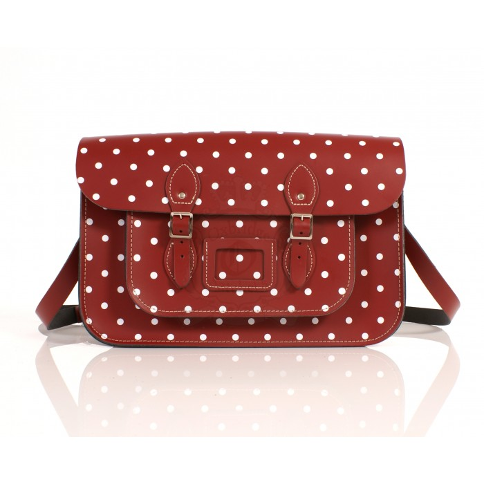 RL15 PILLARBOX RED POLKA DOT ENGLISH NEW 5