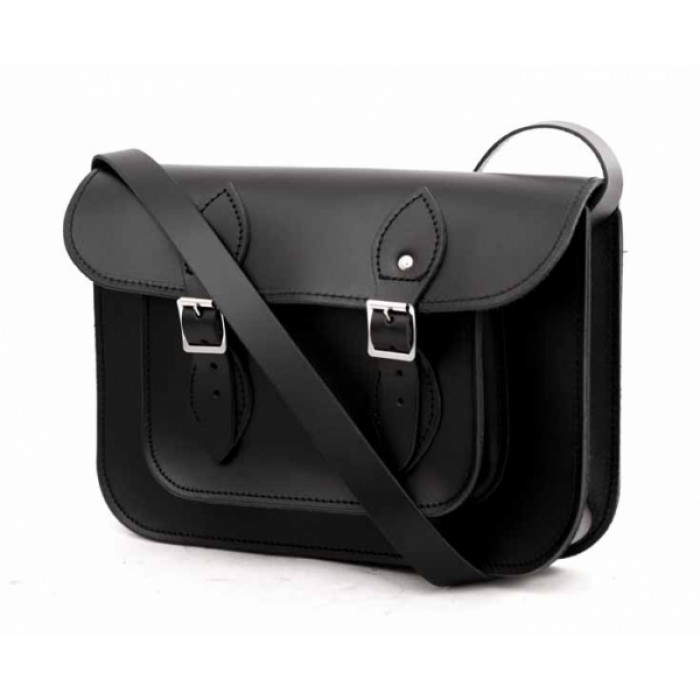 "SATCHEL 11"" BLACK"