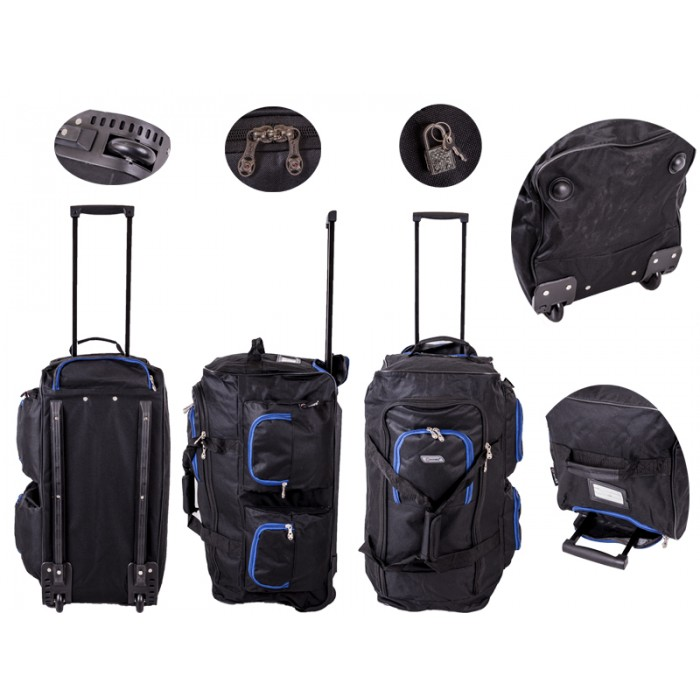 TB227 Trolley Bag Black/Blue 27""