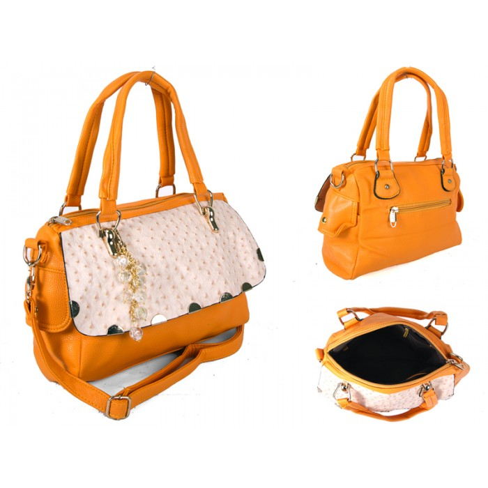 SUS1 YELLOW BUBBLE FLAP PU BAG