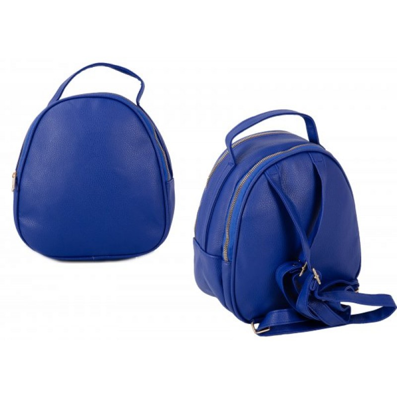 JBFB281 BLUE PU ROUND BACKPACK W/ 2 COMPARTMENTS