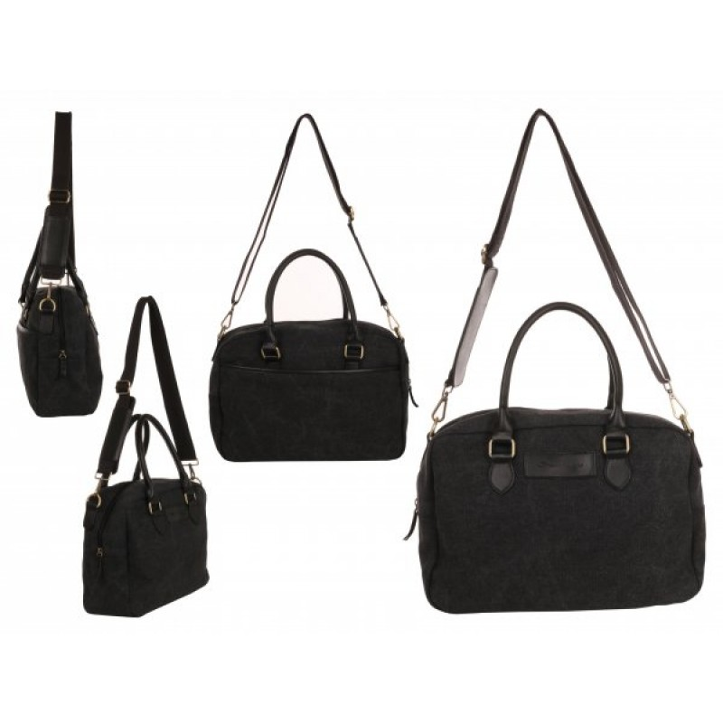 WB-6023 CHARCOAL SMALL CANVAS HOLDALL