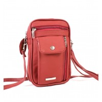 3728 RED COW HIDE  BAG