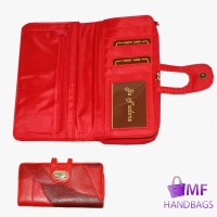 4865-RED 16CM PATCH PURSE WALLET