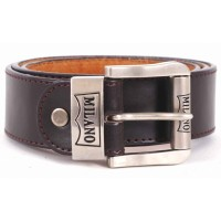 "MILANO 2753 1.5"" BELT WITH LEATHER GRAIN"