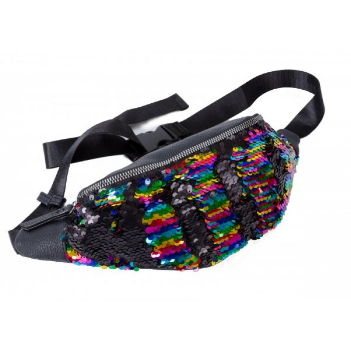 JBBB24 RAINBOW BUMBAG WITH REVERSIBLE SEQUINS