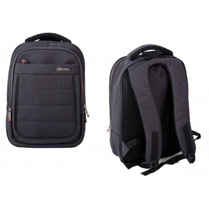 BP850-CH GREY BACKPACK W/ LAPTOP SLEEVE & 3 ZIPS