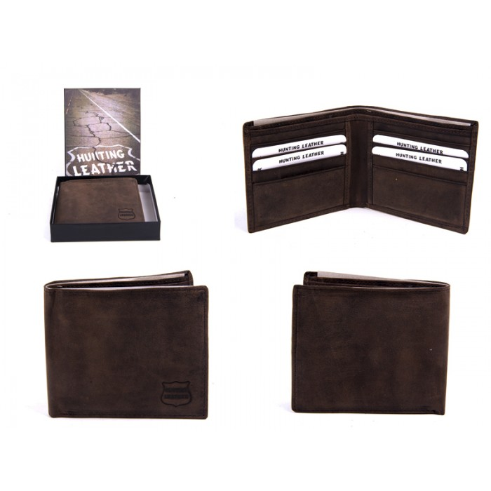 1061 HUNTING BROWN LEATHER WITH RFID