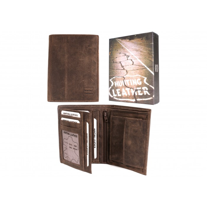 1062 HUNTING BROWN LEATHER WITH RFID