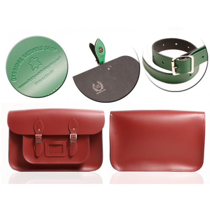 "12"" RED MAGNETIC SATCHEL NO HANDLE"