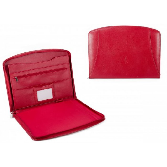 200R RED PU FOLIO HOLDER WITH ACCESSORY SECTION