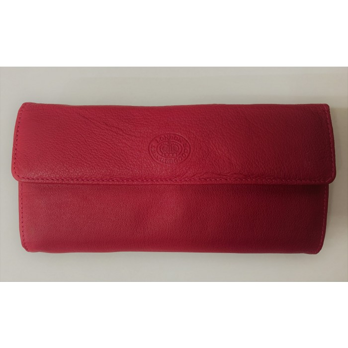 1374 RED LONDON LEATHER GOODS PURSE