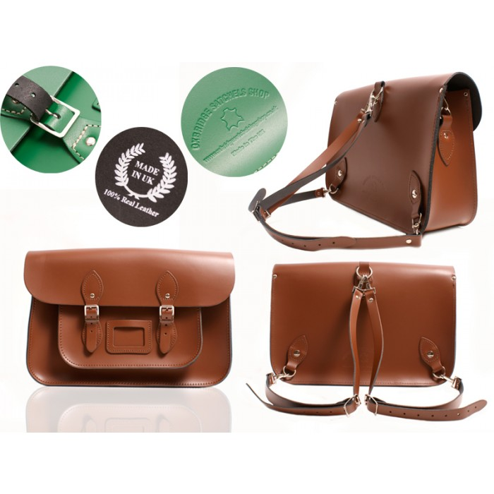 15 CHESTNUT BROWN BACKPACK OXBRIDGE SATCHEL