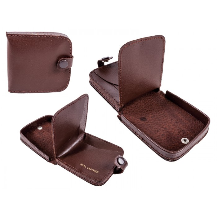 1591 Brown square tray purse wallet note section