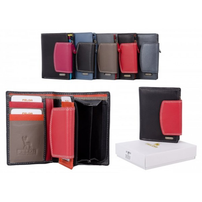 10617 RED RFID LADIES WALLET