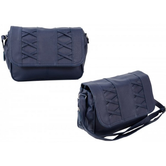 JBHB2548-B NAVY CROSSBAG W/3 ZIPS