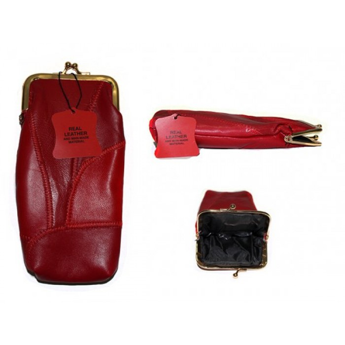 4671 SOFT GLASSES PURSE RED PATCHWORK