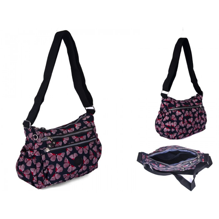 2502 BURG BUTTERFLY  Lorenz shoulder bag with 4 zips