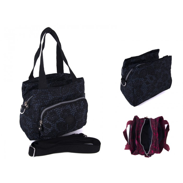 2503 BLK FLOWERS Lorenz shoulder bag