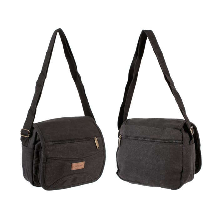 2542 UNISEX SHOULDER BAG BLACK