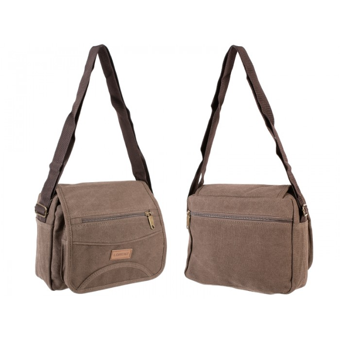 2542 UNISEX SHOULDER BAG BROWN