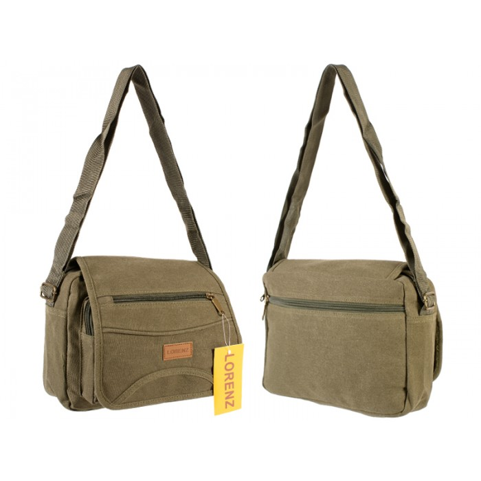 2542 UNISEX SHOULDER BAG OLIVE GREEN