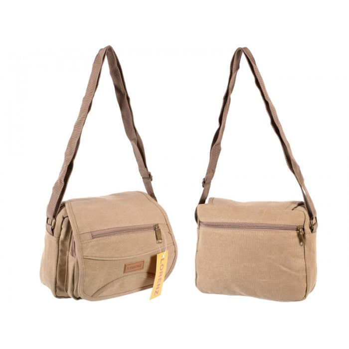 2542 UNISEX SHOULDER BAG TAN