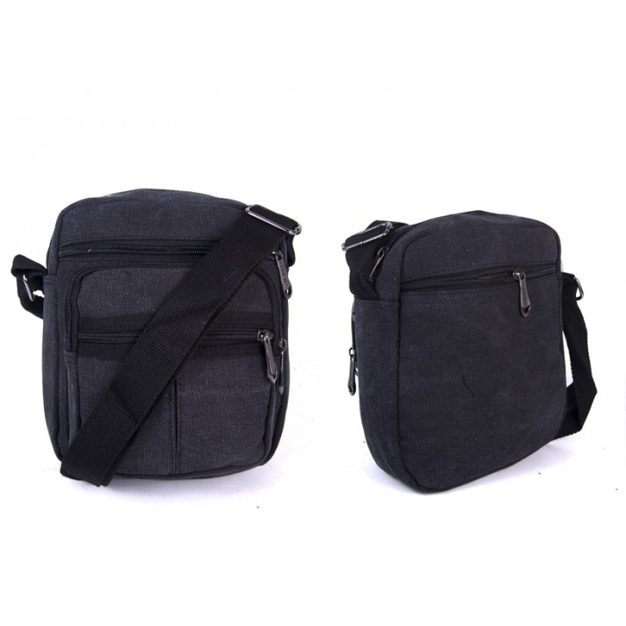 2557 BLACK PORTRAIT XBODY BAG WTH TOP ZIP, 3 FRONT
