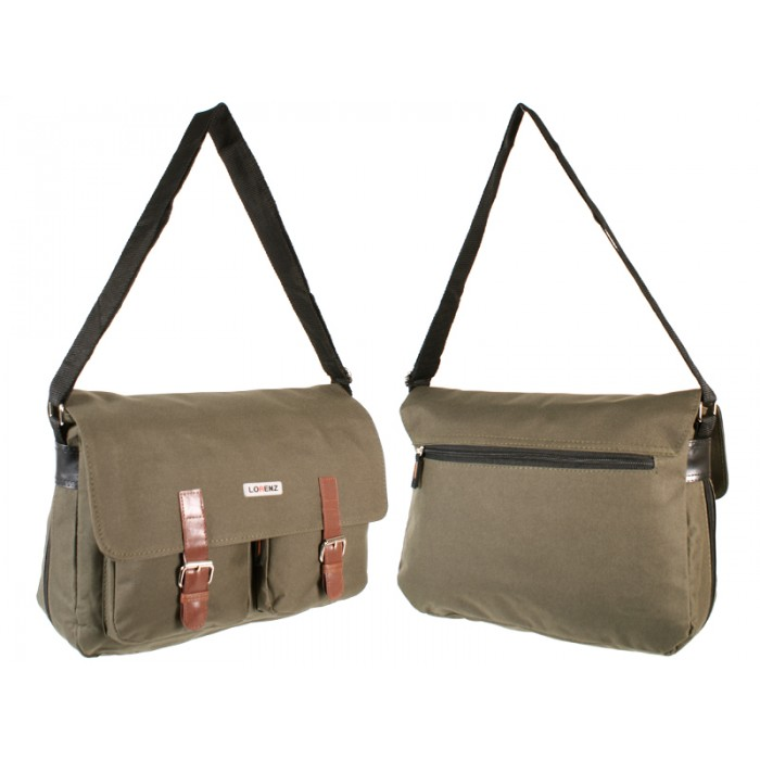 2576 OLIVE GREEN XBODY POLYESTER MESSENGER