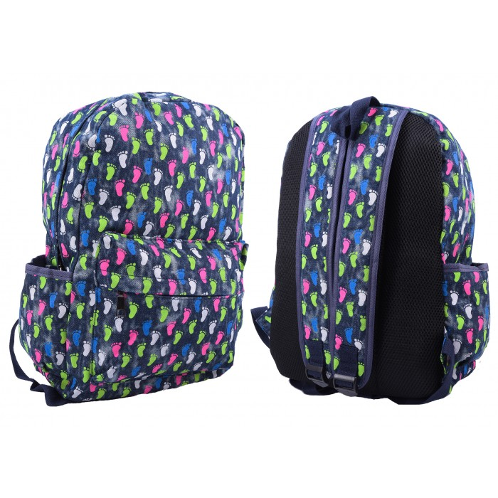 2612 FOOTPRINT 2 PATTERNED CANVAS BACKPACK
