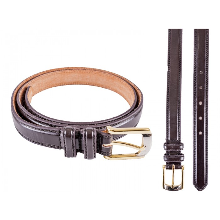 "2701 Brown Smooth Belt 2 Tone Buckle - Size M (32""-36"")"