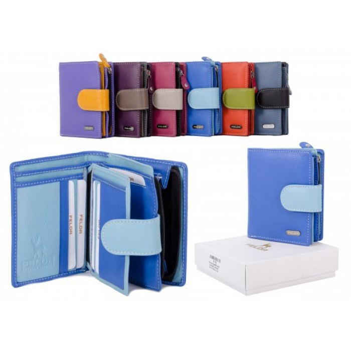 16-103 BLUE RFID MULTI LADIES WALLET