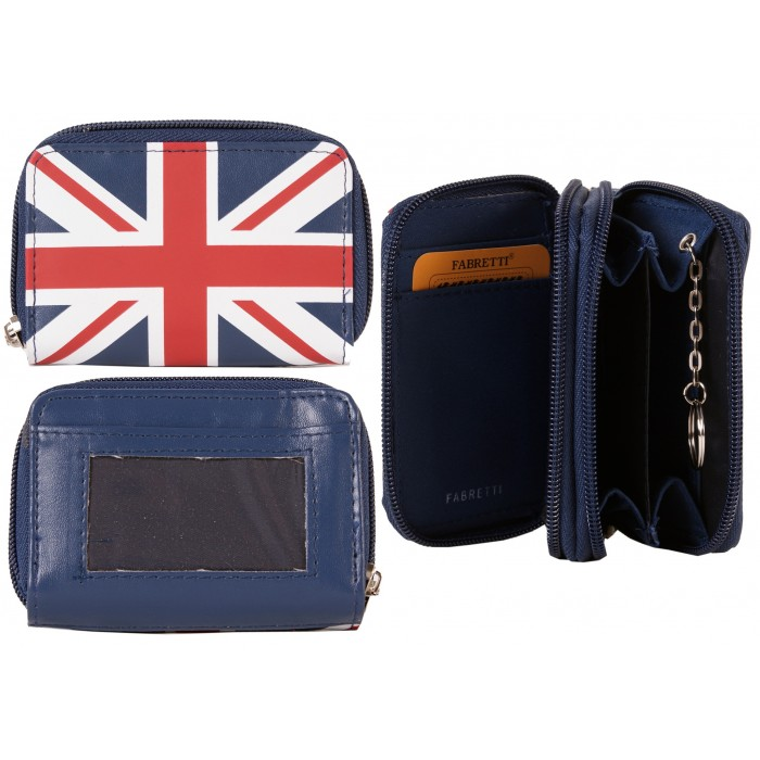 Model: 32608 BLUE UNION JACK FABRETTI PURSE