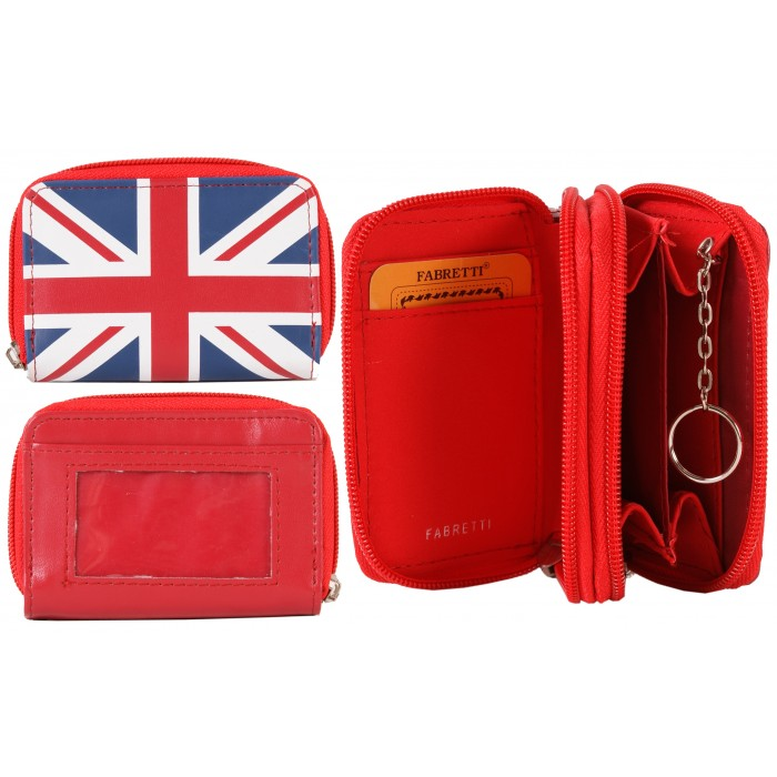 32608 RED UNION JACK FABRETTI PURSE