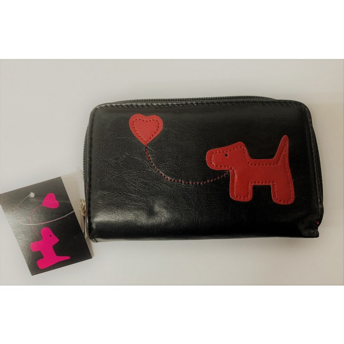 33067 BLACK/RED FABRETTI PURSE