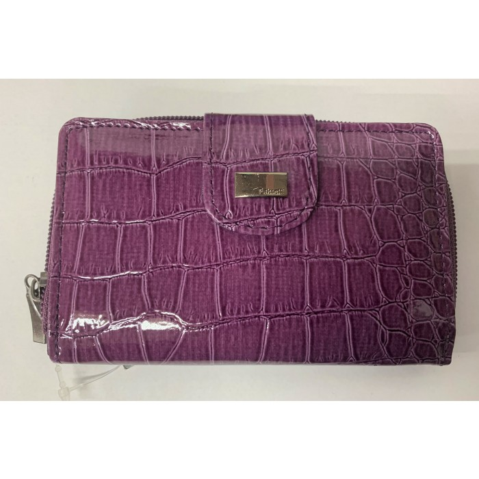 33536 PURPLE CROC FABRETTI PURSE