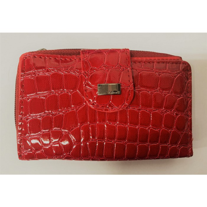 33536 RED CROC FABRETTI PURSE