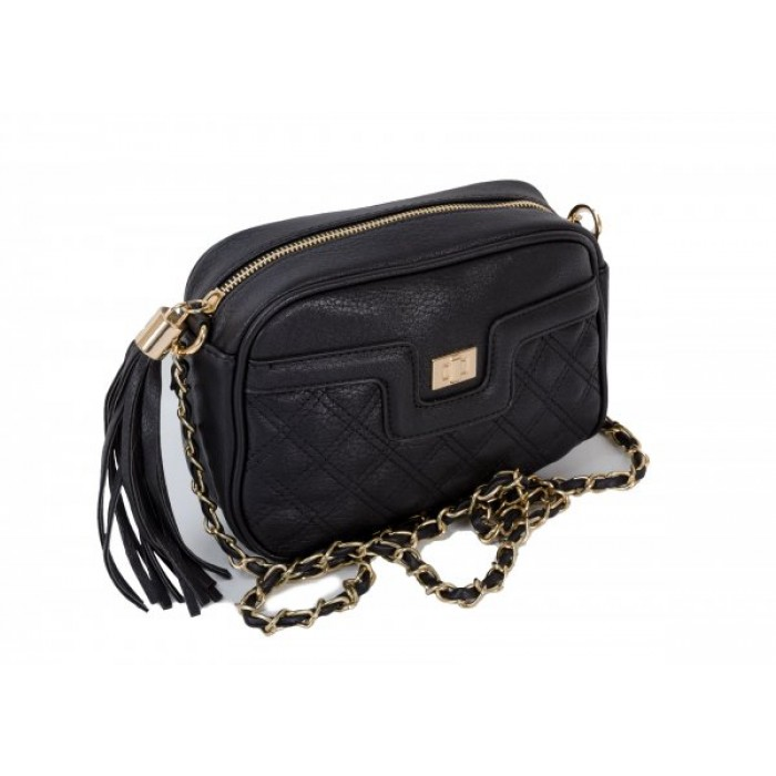 JBFB104 BLACK CROSS BODY BAG W/CHAIN